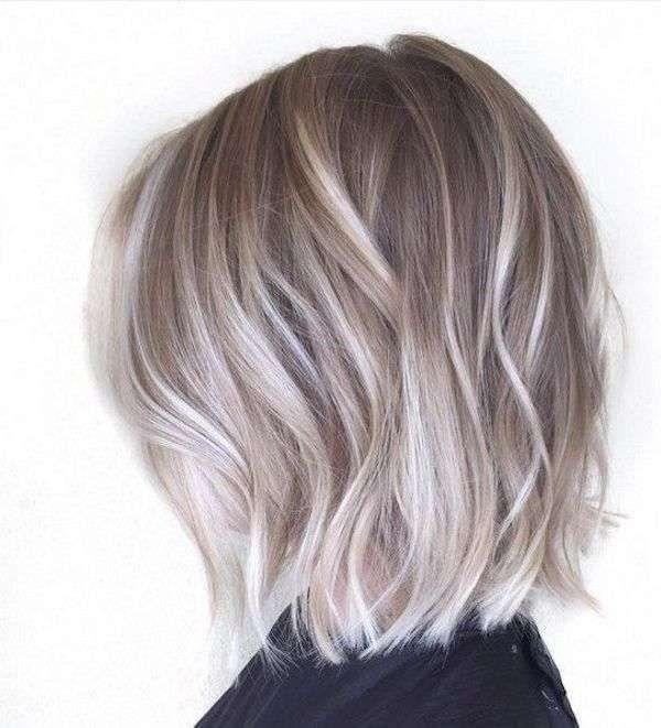 Shatush capelli corti biondo cenere