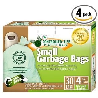 """Green N Pack Small Garbage Bags 4 Gallon 30-Count Boxes (Pack of 4, Total of 120 - * Green'N'Pack® Waste Solutions makes the task of cleaning easier. * 4 gallon flat bags 30-Count (Pack of 4, total of 120-Count) * Easy dispensing, one bag at a time * 9"""" x 8"""" x 18"""", 13 microns * Fits in 3 - 4 gallon small baskets, perfect for home, office or bathroom use - 69 Bonos #garbagebags #socialcurrency #homegarden"""