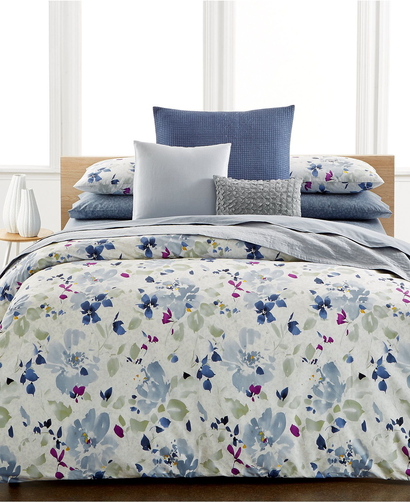 Bedding jardin collection bedding collections bed amp bath macy s - Calvin Klein Watercolor Peonies Duvet Covers Duvet Covers Bed Bath Macy S Comforters
