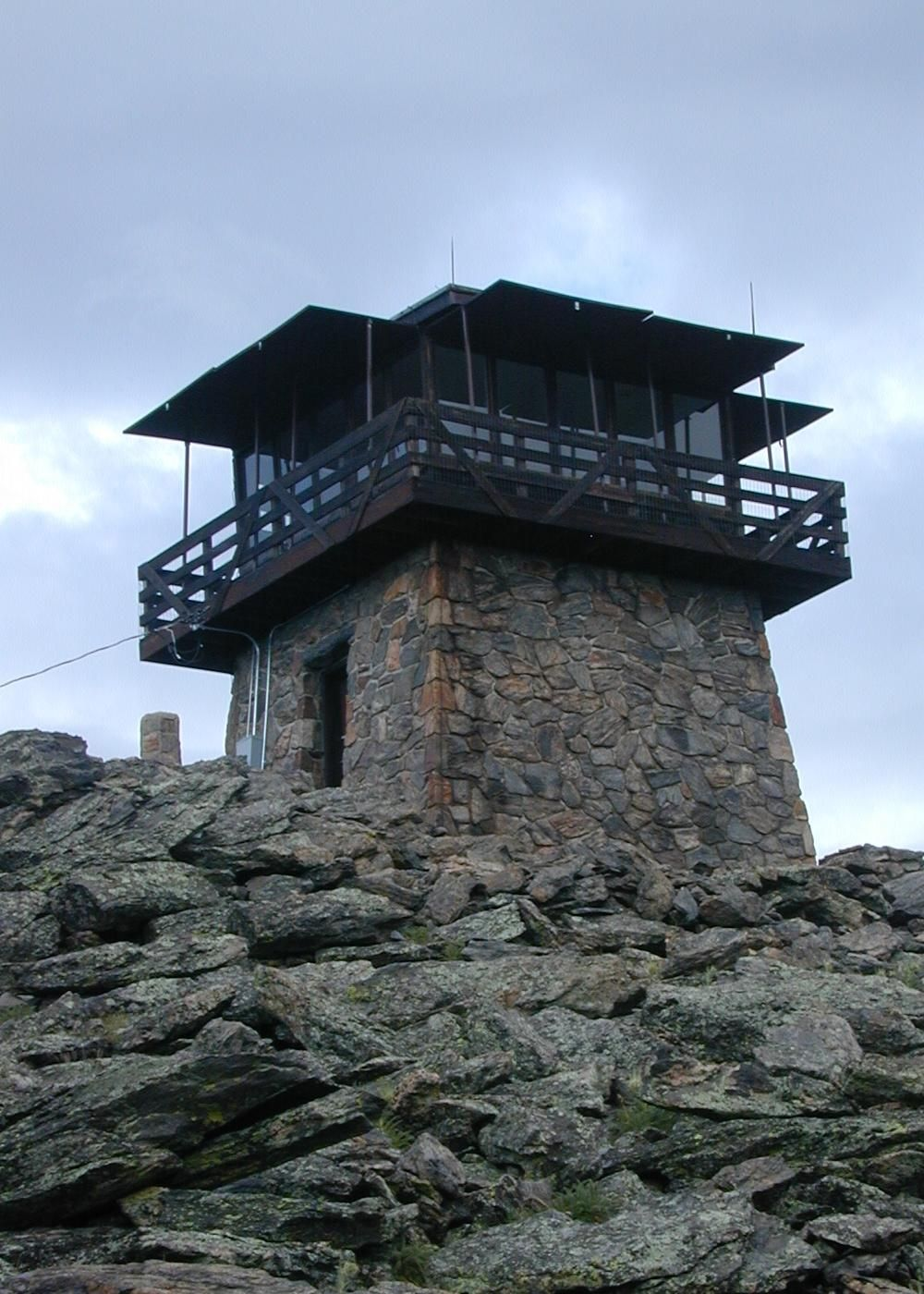 Tiny house living at 11 486 feet squaw mountain fire for Fire tower cabin plans