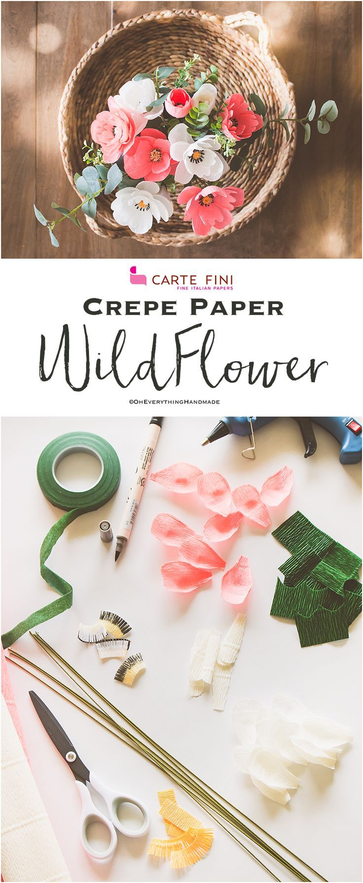 Crepe Paper Wildflower Paper Flower Tutorial Crepe Paper And