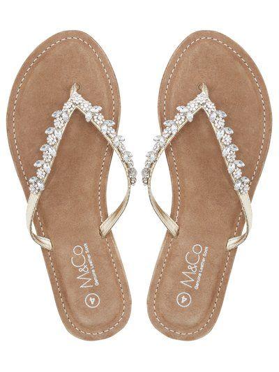 527c47493001 Flip Flops by M Co Diamante Flip Flops