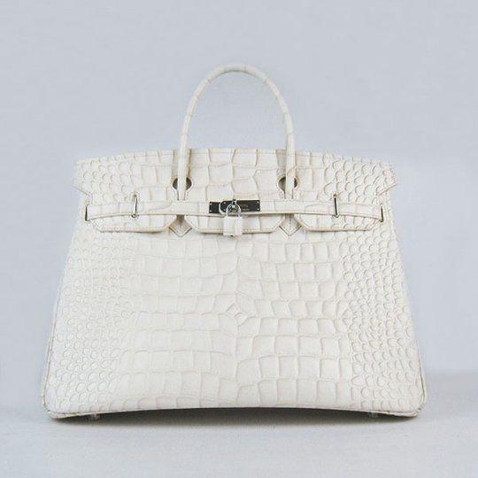a4170e46cf59 Birkin Hermes Cheap Sale 40cm 6099 Beige Big Crocodile Stripe Silver Paris  Luxury Online Shopping