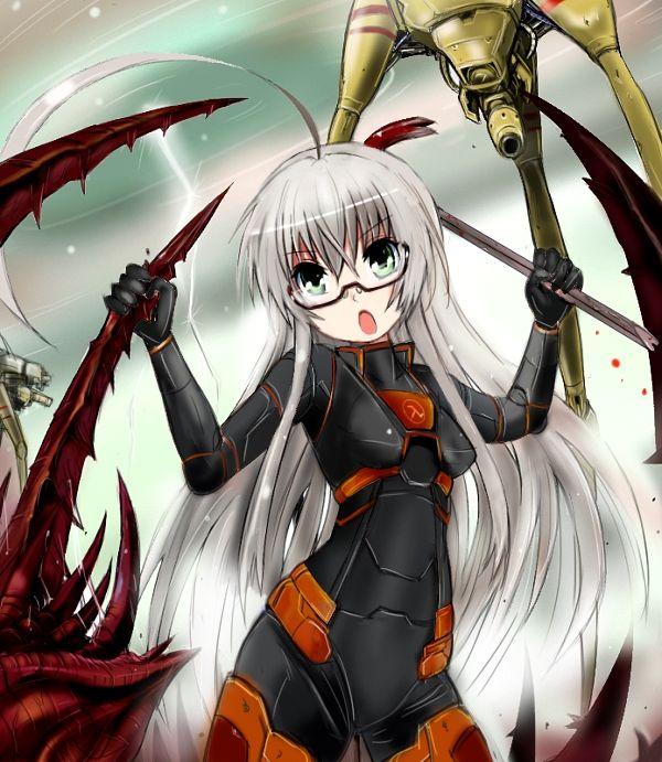 Freeman Anime Half Life Girl White Hair Crowbar Strider -5020