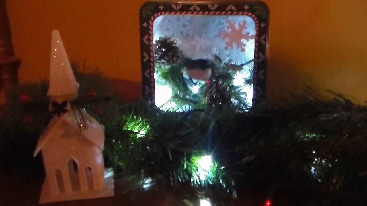 Diy dollar tree cookie tin shadow box dollar tree