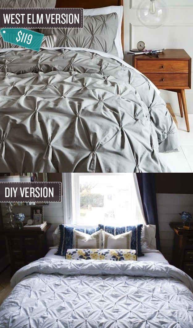 24 West Elm Hacks Diy Bed Duvet Cover Diy Pintuck Duvet Cover
