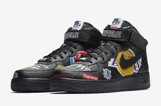 Supreme x NBA x Air Force 1 Mid 07 'Black'