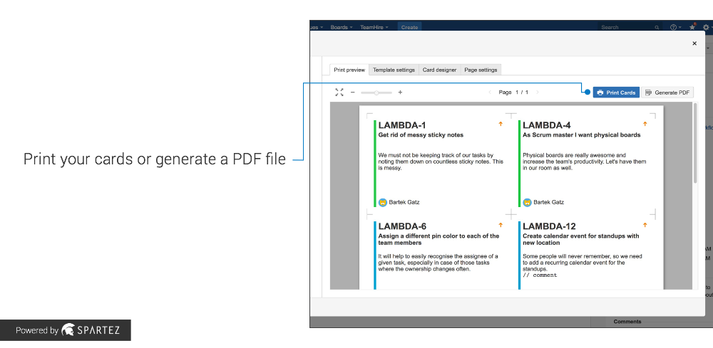 Agile Cards Printing Issues From Jira Atlassian