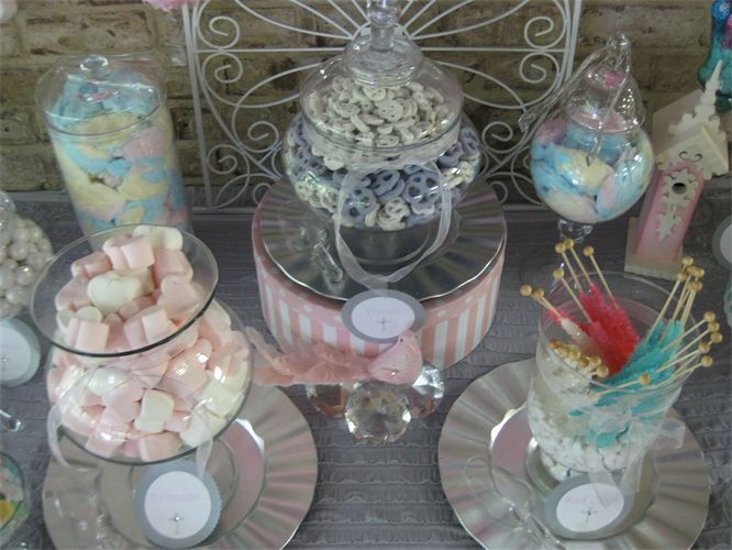 First holy communion candy buffet and favors give each