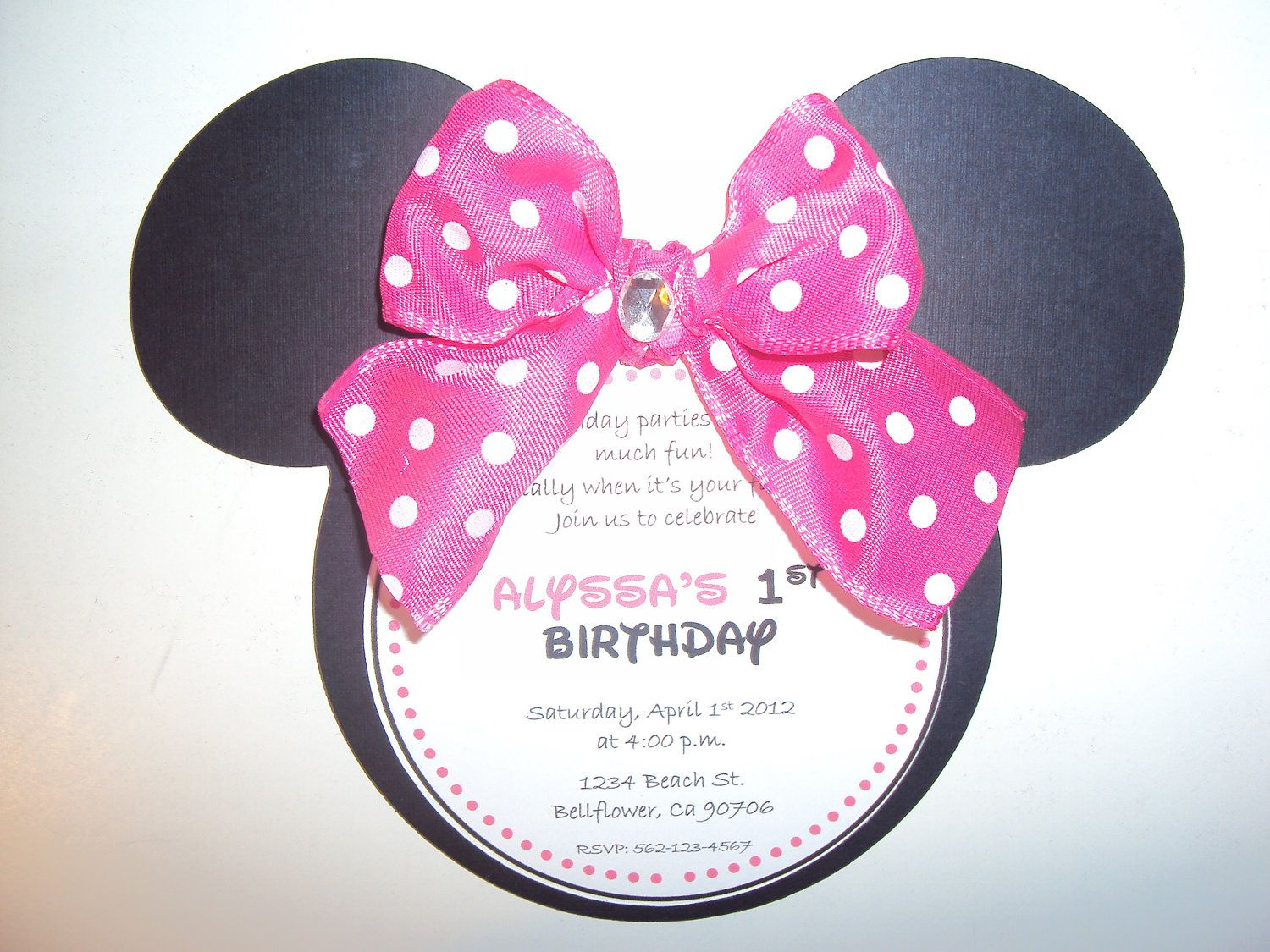 Minnie Mouse Invitation  Minnie Mouse Birthday  by KnitCraftLove, $2.50