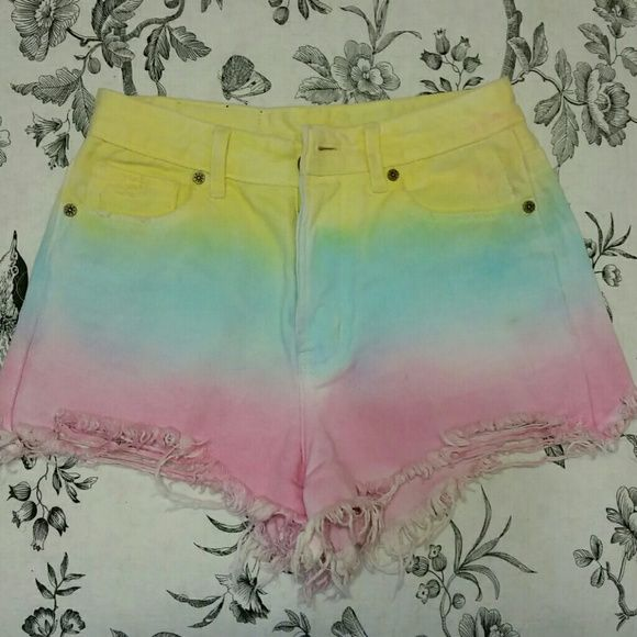 503d36ea9955c Unif Guess What Shorts Out of stock on DollsKill, beautiful cotton candy  colored cutoffs .