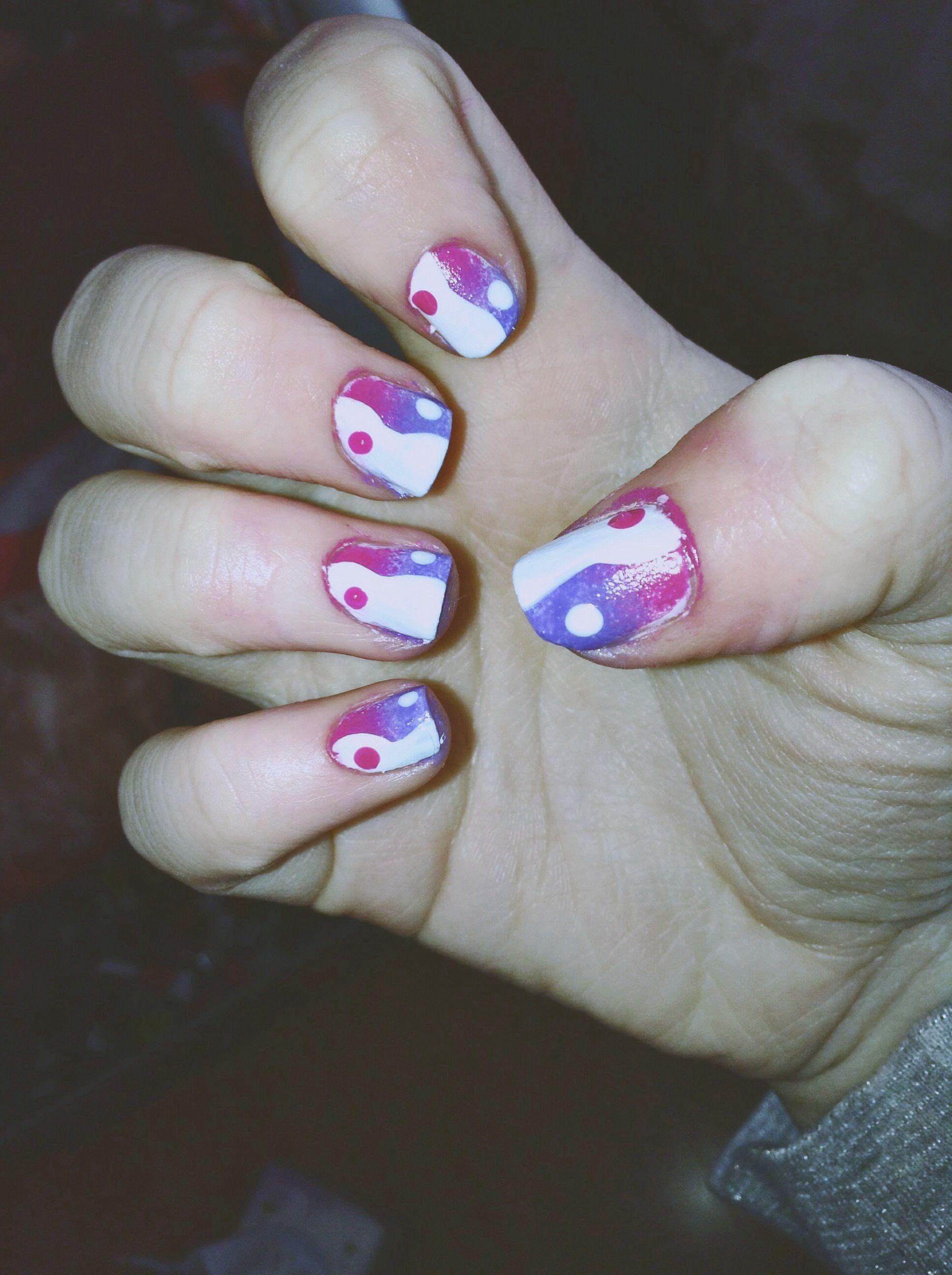 Yin yang nail art nails pinterest yin yang nails