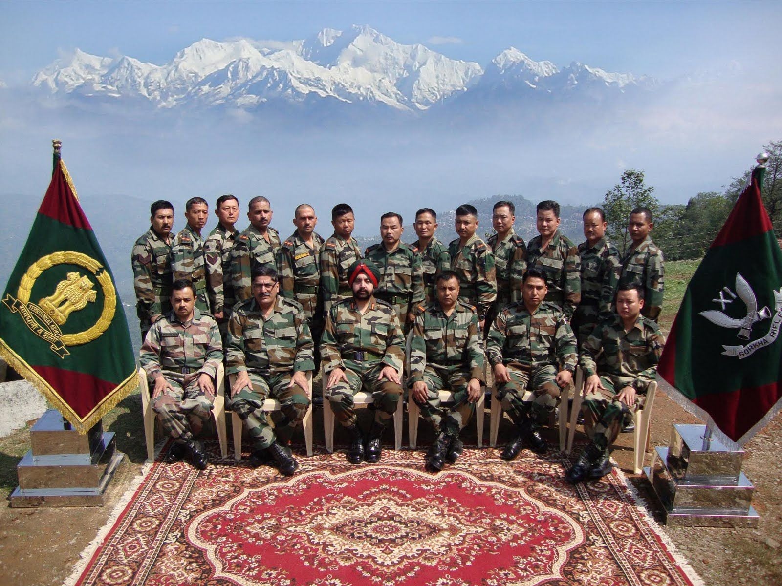Indian Army Gurkha Regiment That Is Stationed On The India China