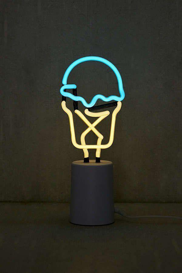 Neon Table Light: Sunnylife Mini Ice Cream Neon Sign Table Lamp