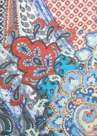 Paisley print foulard