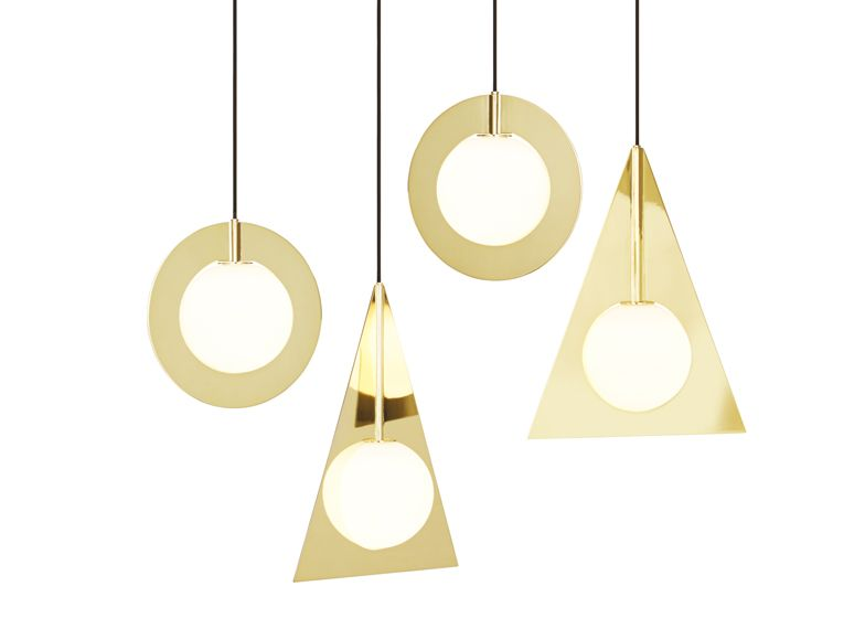 Designer Tom Dixon presented a collection of pendant and table