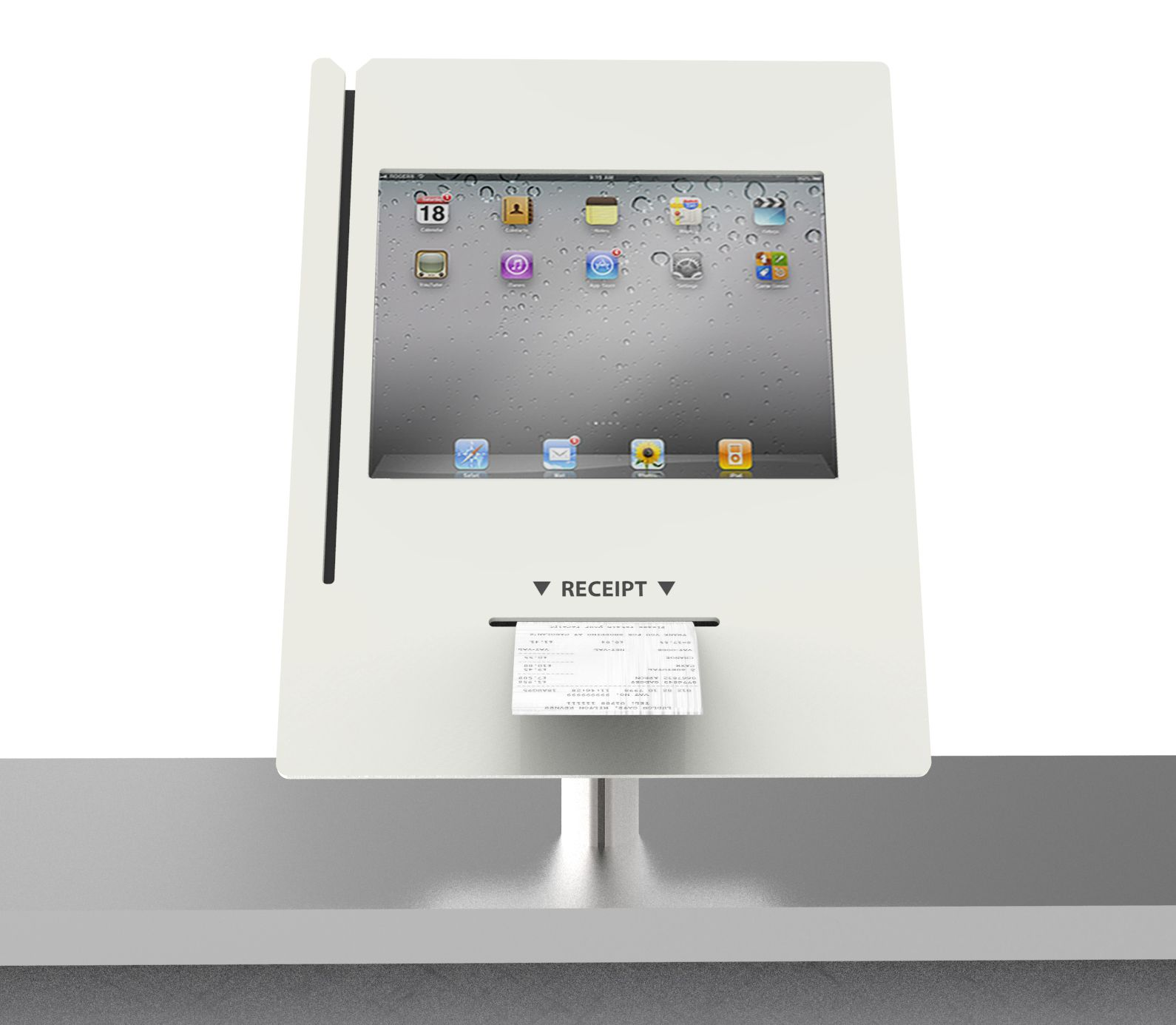 Expo 10 Tablet Or Ipad Enclosure Wall Mount With Card Reader Holder Tablet Kiosk Swipe Card Ipad Kiosk
