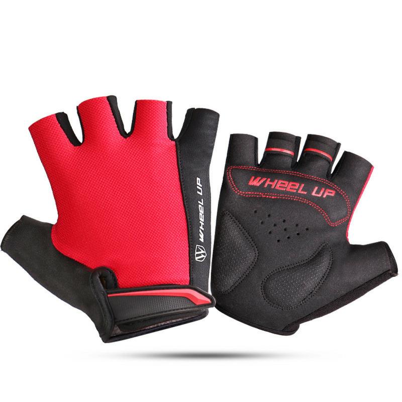 Antiskid Cycling Motorcycle Gloves MTB Bike Short Finger Yellow Gloves Size XL