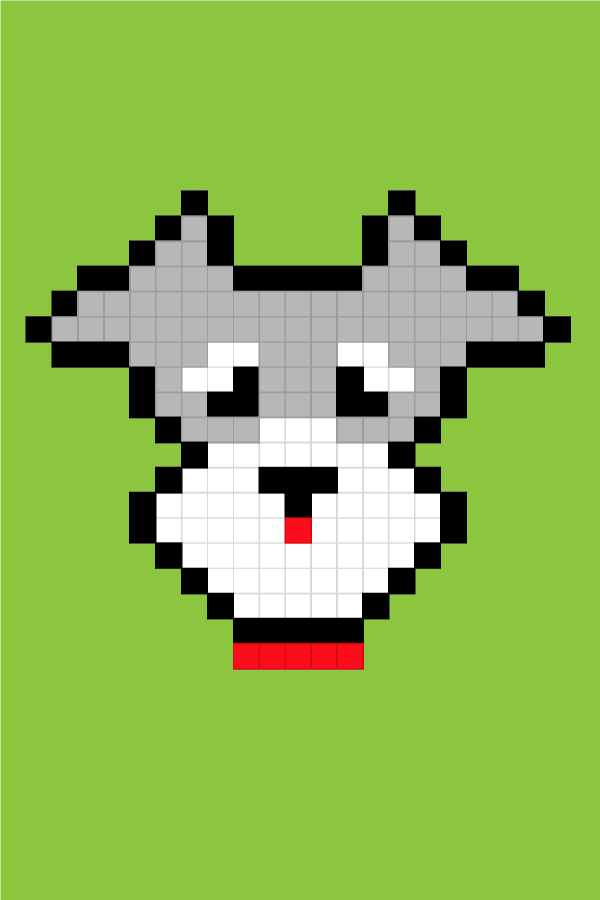 Easy Pixel Art Dogs Schnauzer Pixel Art Facile Chiens