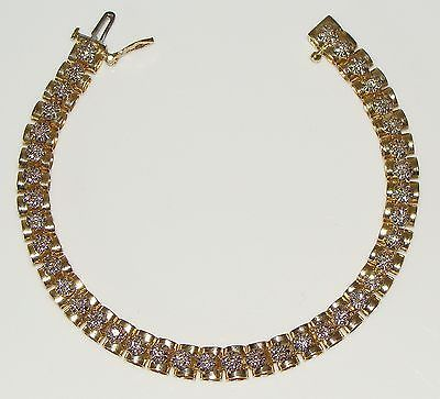 Gorgeous 14k yellow gold #ladies #diamond tennis bracelet – 7in, #14.20gr, .75t,  View more on the LINK: http://www.zeppy.io/product/gb/2/222155491006/