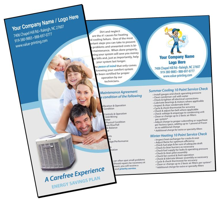HVAC Extended Service Maintenance Agreement Brochure #1 Value - extended service contract