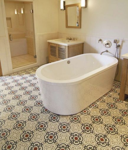 Charmant Beautiful Pattern Of Vintage Bathroom Floor Tile Ideas | Decolover.net