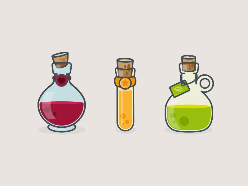 Magic Potions Bottle Drawing Magic Bottles Potions