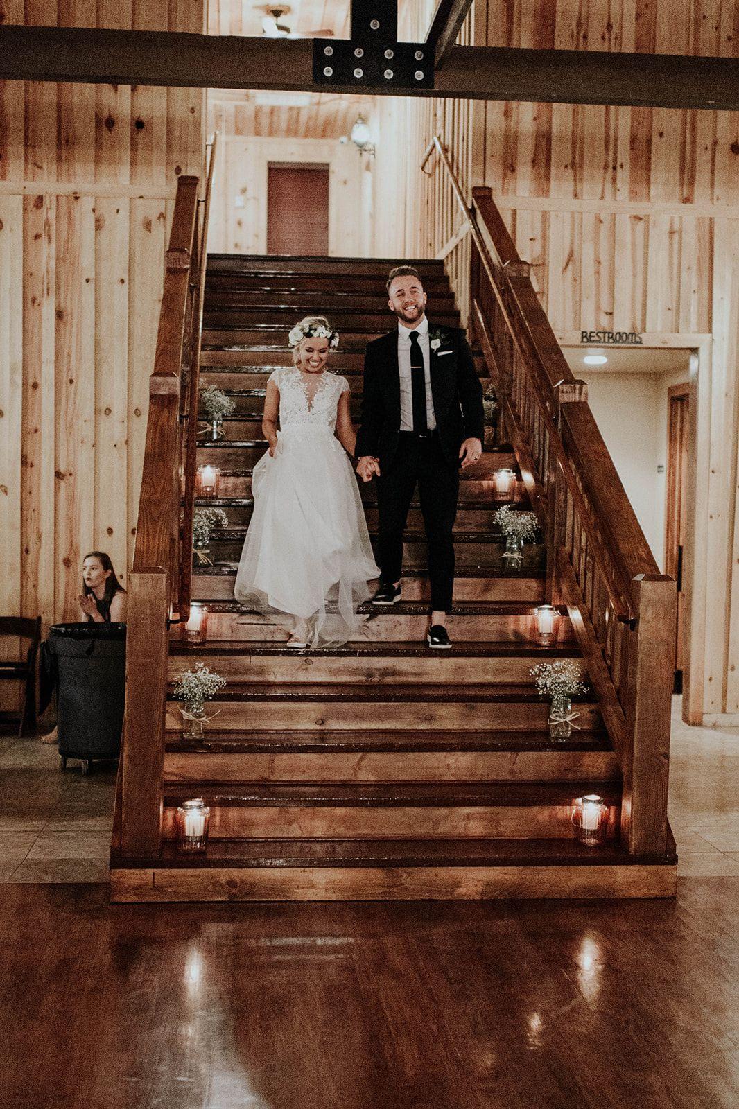 Modern Rustic Wedding Reception Decorations Elegant Rustic Wedding Dec Wedding Staircase Wedding Staircase Decoration Wedding Reception Decorations Elegant