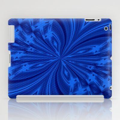 Abstract Butterfly Blue iPad Case by MargaretNewcombArt - #abstract #butterfly #ipadcase #society6