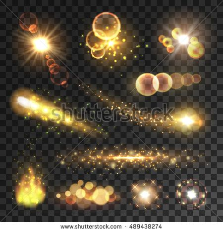 Golden Sparkling Light Trails Sparkling Glitter Flashes Shining Particles With Sparkler Tails Burning Fire Flame Lens Luzes Bokeh Efeitos Png Efeito De Luz