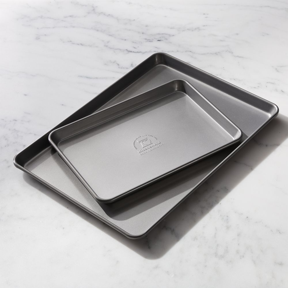 KitchenAid ® Nonstick Sheet Pans Set of 2 - Crate and Barrel | Pan on pyrex baking sheet, west bend baking sheet, tefal baking sheet, nordic ware baking sheet, silpat baking sheet, lodge cast iron baking sheet, circulon baking sheet, wilton baking sheet, gaggenau baking sheet, all-clad baking sheet, oneida baking sheet,