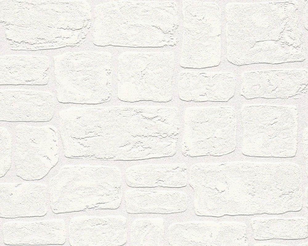 As Creation Brick Effect White Blown Vinyl Textured Paintable Wallpaper 2040 42 White Brick Wallpaper Paintable Wallpaper Stone Wallpaper