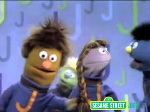 Sesame Street Letter J sound and words that begin with J