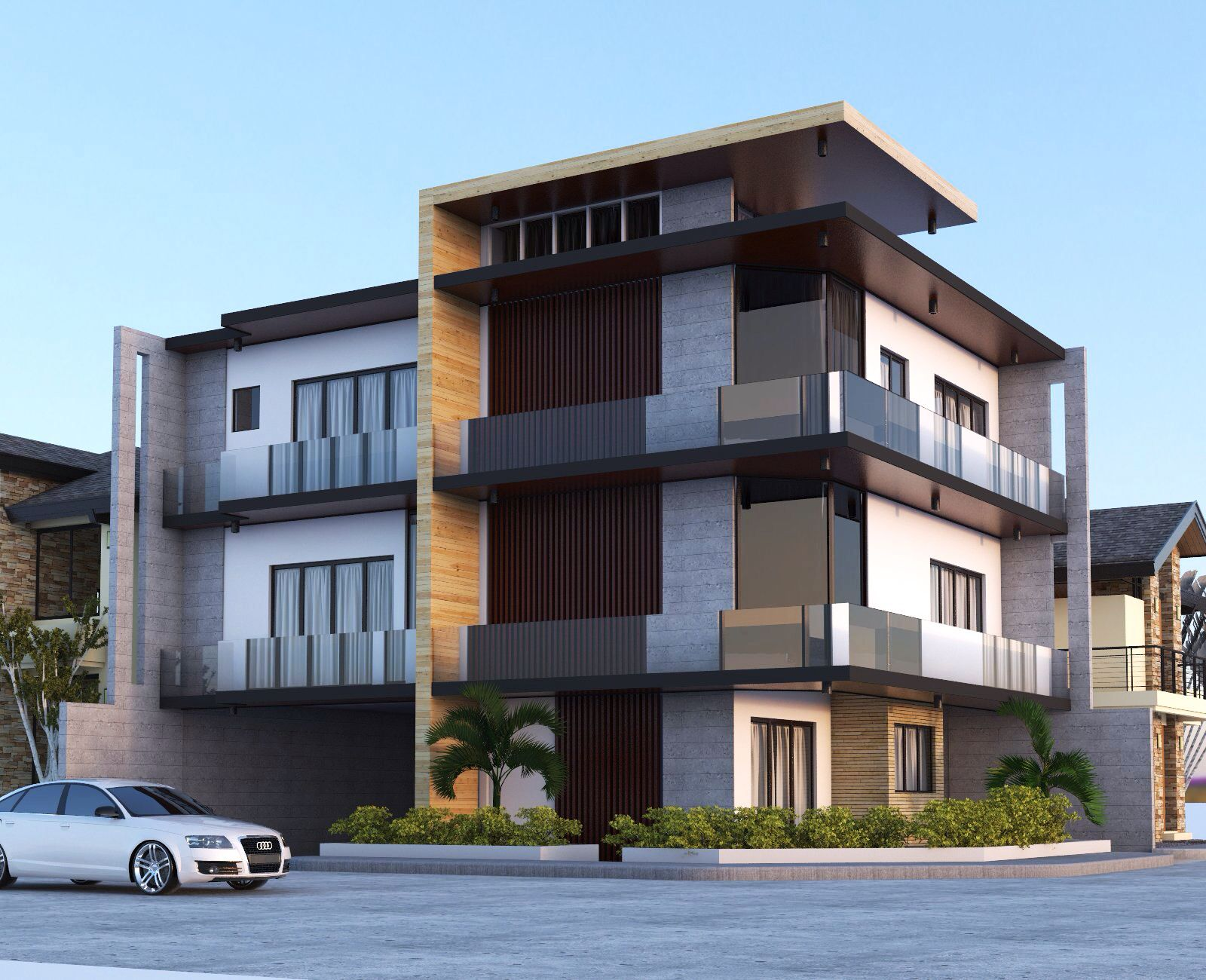 3 stories residential building