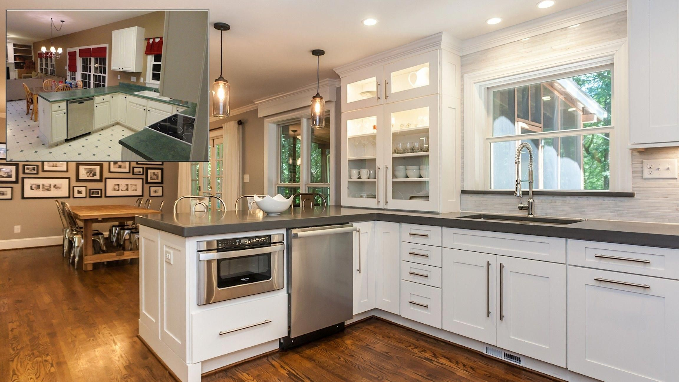 before and after kitchen remodels u shaped kitchen remodel ideas before and after cab on kitchen ideas u shaped id=63787