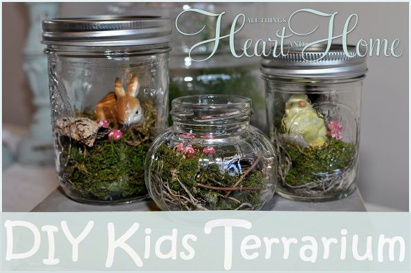 tiny terrarium for kids to make, crafts, terrarium, There are so many cute jars and adorable little friends to use for these tiny terrariums