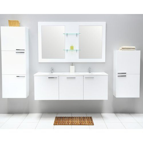 Found it at wayfair co uk aichilik 135cm wall mounted vanity unit