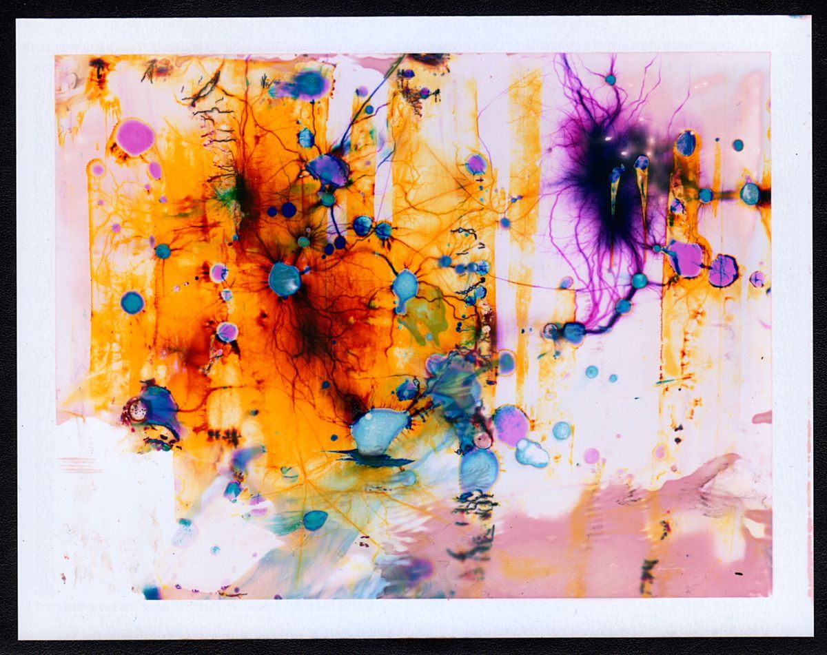 This Is The Beautiful Result Of Shocking Polaroids With 15,000 Volts; artist Phillip Stearns