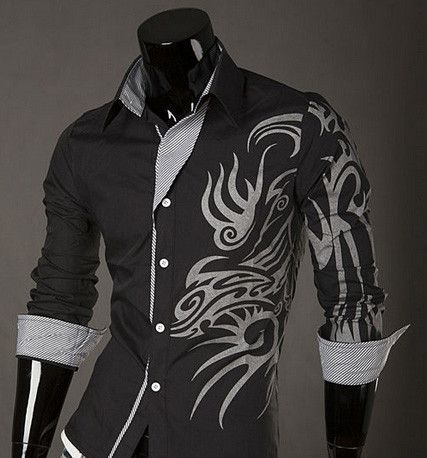 cb922ed65 Tribal Dragon Shirt | Deal Man | clothes in 2019 | Casual wear for ...