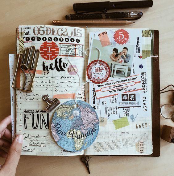 Marimoon Quadern De Viatges Pinterest Journal Scrapbook And
