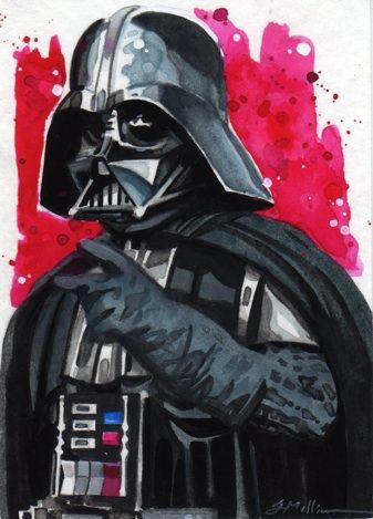 Darth Vader Sketch Card by Straycatstudio on deviantART  Art