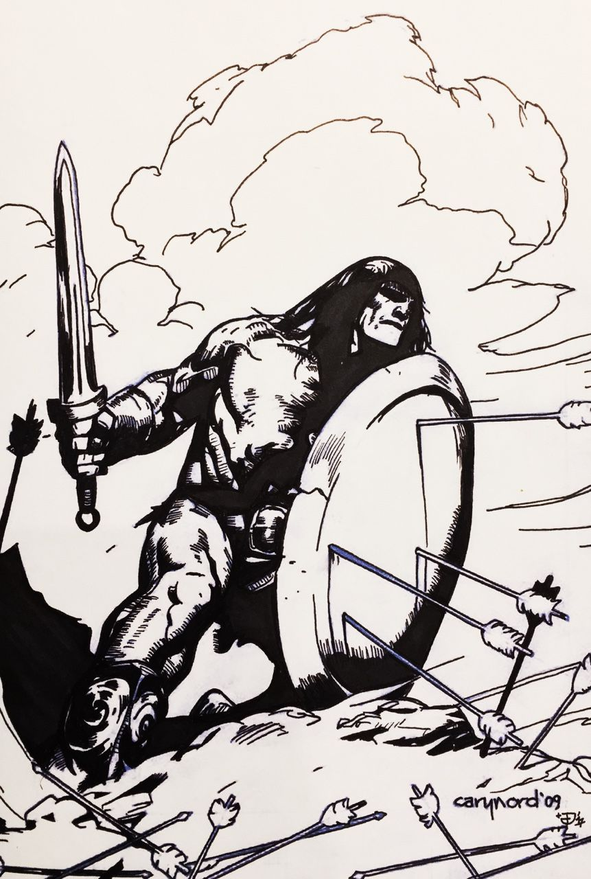 Conan By Cary Nord With My Inks From Tonight Art Pages Conan The Barbarian Sword And Sorcery