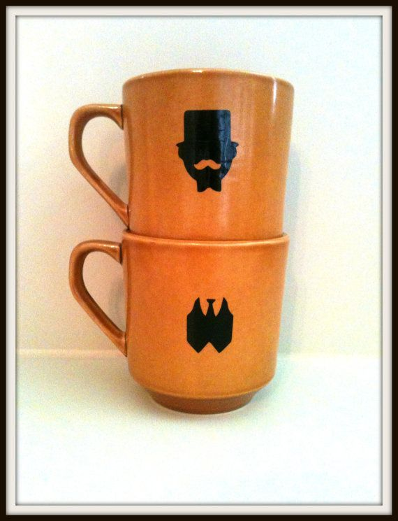 MUSTACHE MUG Top Hat Vest GentlemanTea Cup Funny by SwankyStaches