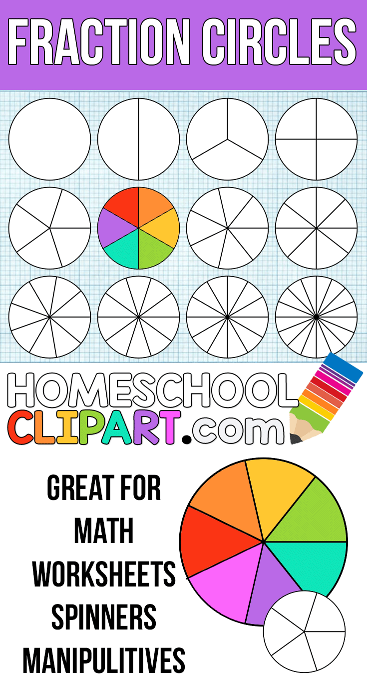 Free Fraction Circles! Make your own printable fraction circles ...