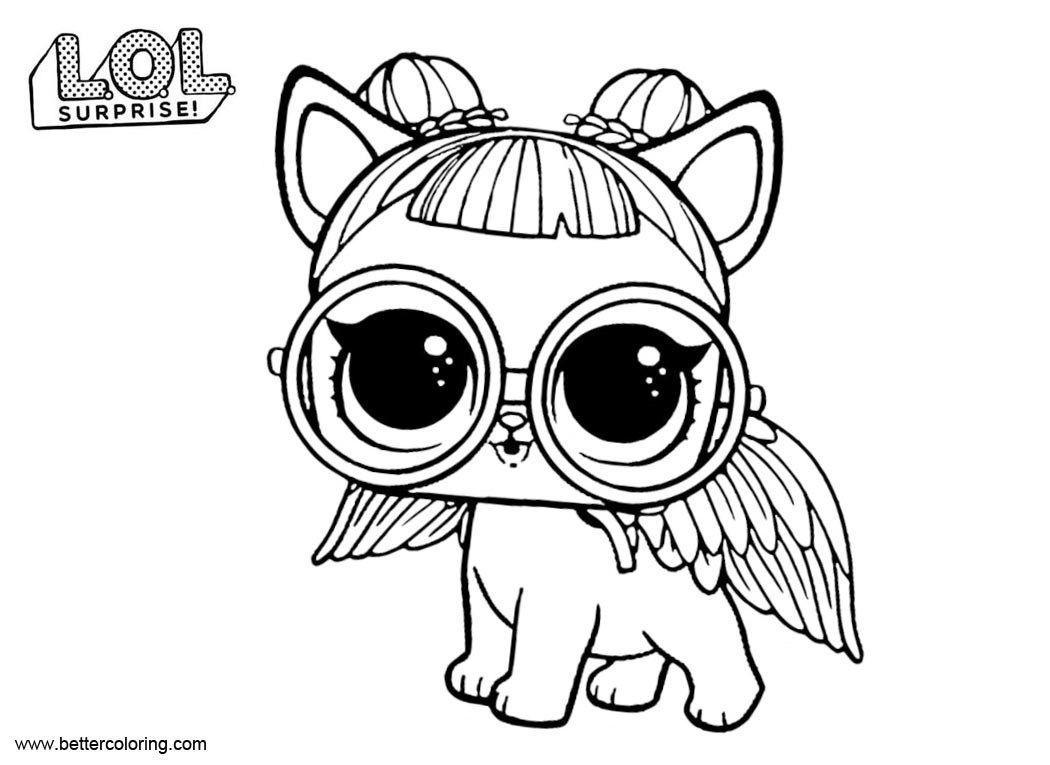 lol surprise coloring pages pets | bunny coloring pages