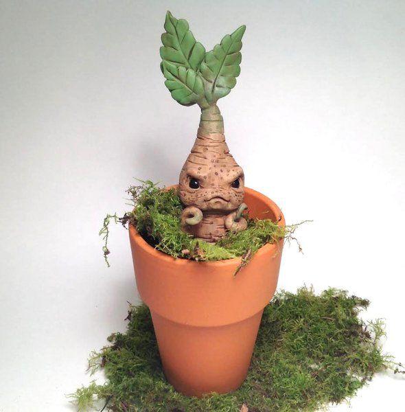 My Version Of A Harry Potter Mandrake Harry Potter Halloween Harry Potter Mandrake Harry Potter Decor