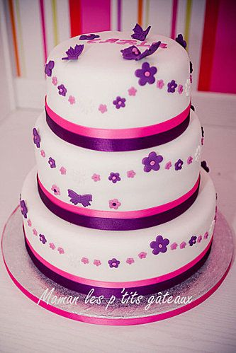 Cute Girls Birthday Cake like the idea of double or two tone