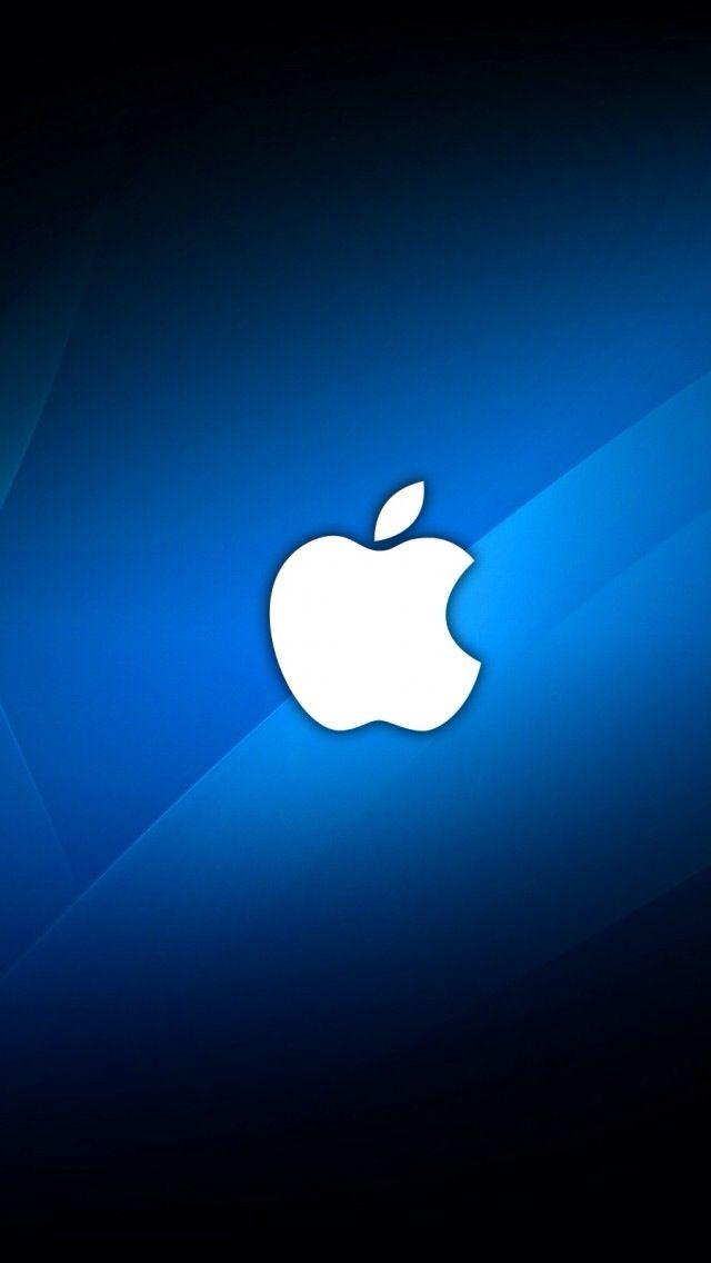 white apple logo on