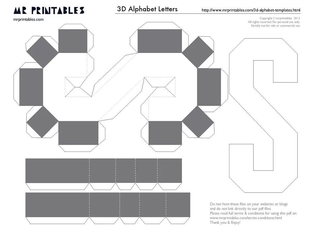 Шаблон объемные буквы из картона своими руками схемы шаблоны фото 1