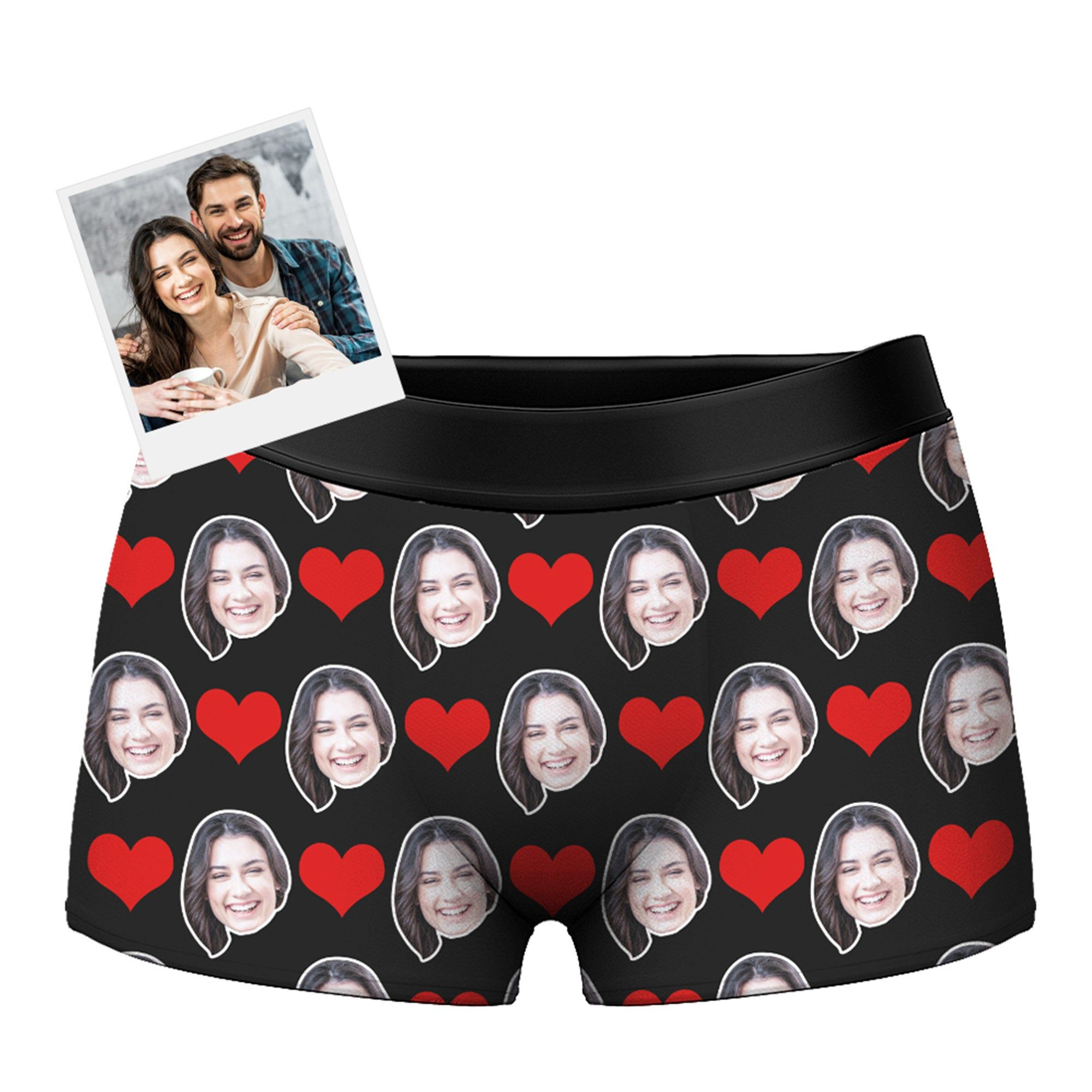 Personalized Briefs for Husband Boyfriend Custom Face Boxers Photo Underwear Birthday Gifts Wife Face on Boxer Valentine/'s Day Gifts